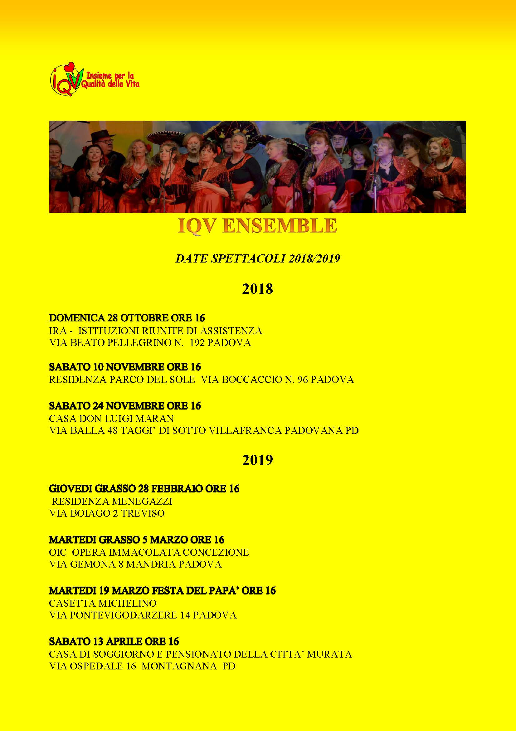 Calendario eventi IQV Ensemble